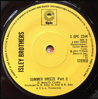 The Isley Brothers - Summer Breeze ноты для фортепиано