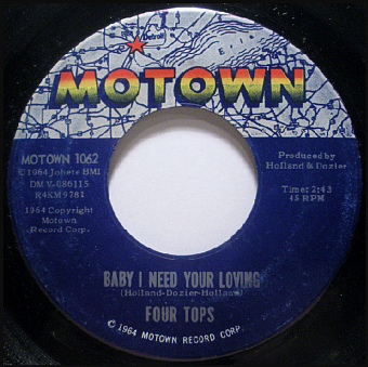 The Four Tops - Babe I Need Your Lovin ноты для фортепиано